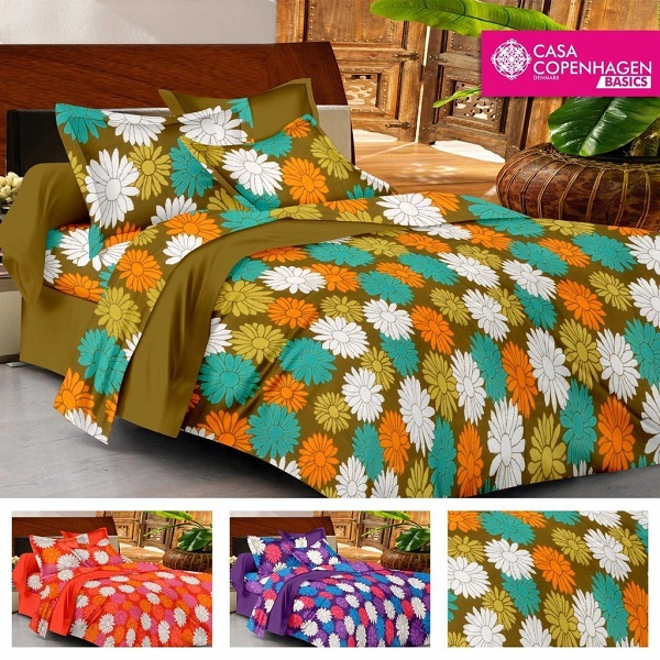 Casa Double Bedsheet With 2 Pillow Cover