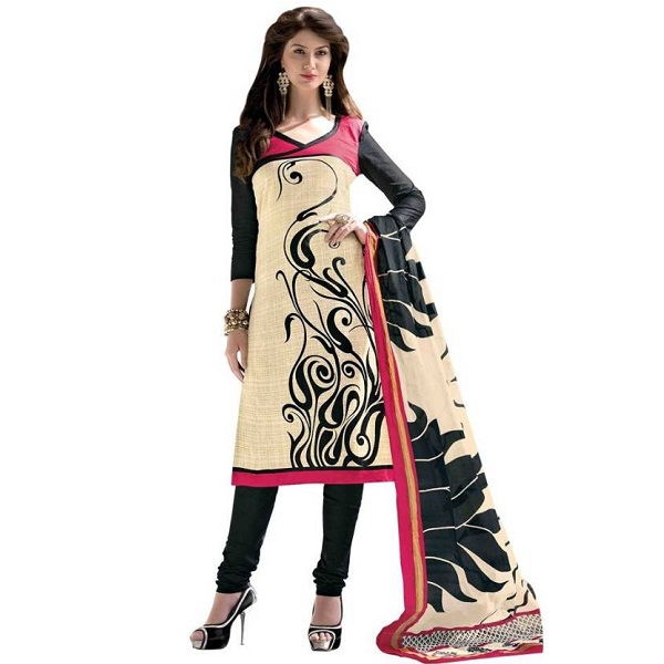 Aashvi Creation Cotton Printed Salwar Suit Dupatta Material