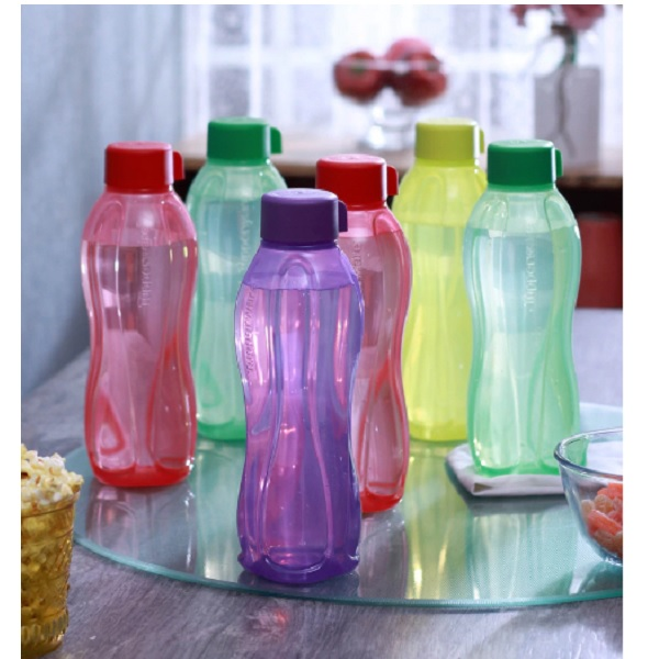 Tupperware Multicolour Plastic 1 L Round Bottle Set of 6
