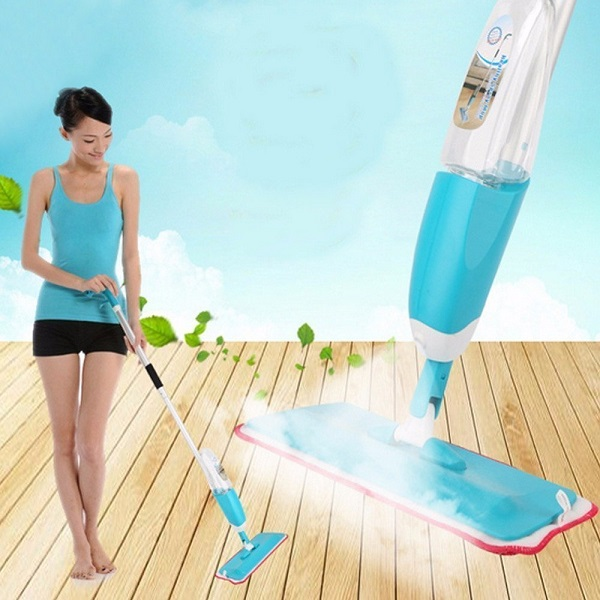 Spray Mop Floor Cleaning Reusable Microfiber Mop
