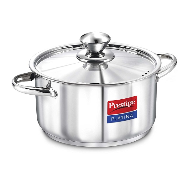 Prestige Platina Induction Base Stainless Steel Casserole
