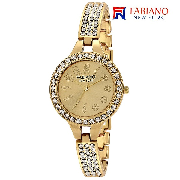 Fabiano New York Gold Analog Wrist Watch