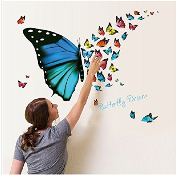 Jaamso Royals Beautiful colorful butterflies dream Wall Sticker
