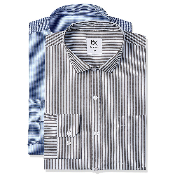EX by Excalibur Pack of Two Mens Formal Shirt