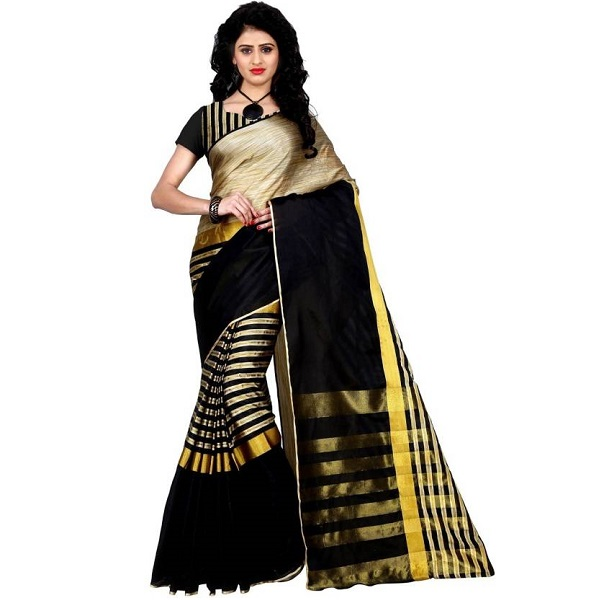 Trendz Style Striped Saree