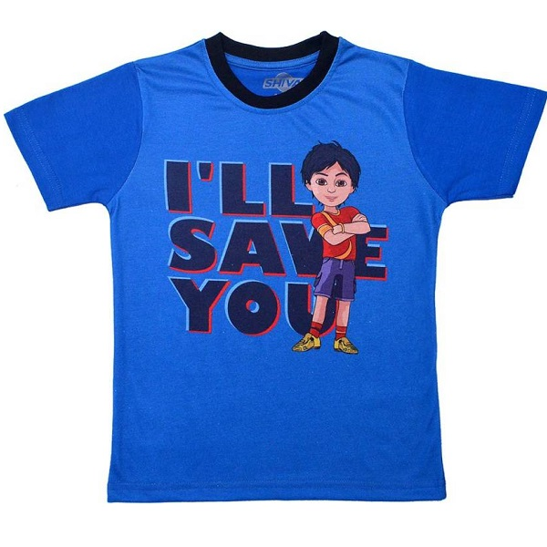 Shiva Boys Printed Cotton Polyester Blend T Shirt