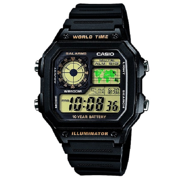 Casio Youth Digital Black Dial Mens Watch