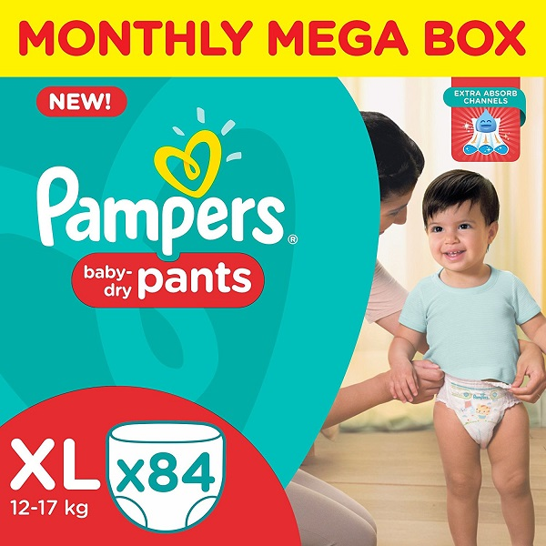 Pampers XL Size Diaper Pants Monthly Box Pack