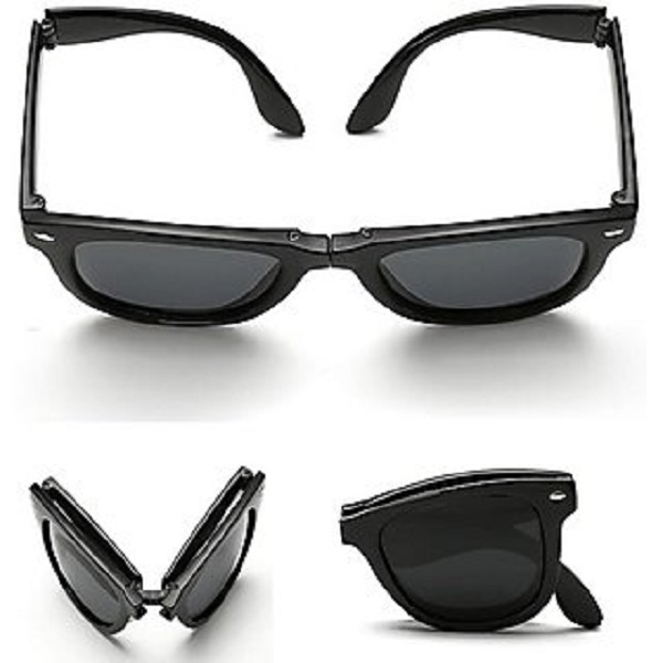 Austin Folding Black Wayfarer Sunglasses
