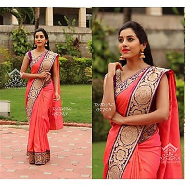 Indian Beauty Multicolor Cotton Animal Saree With Blouse