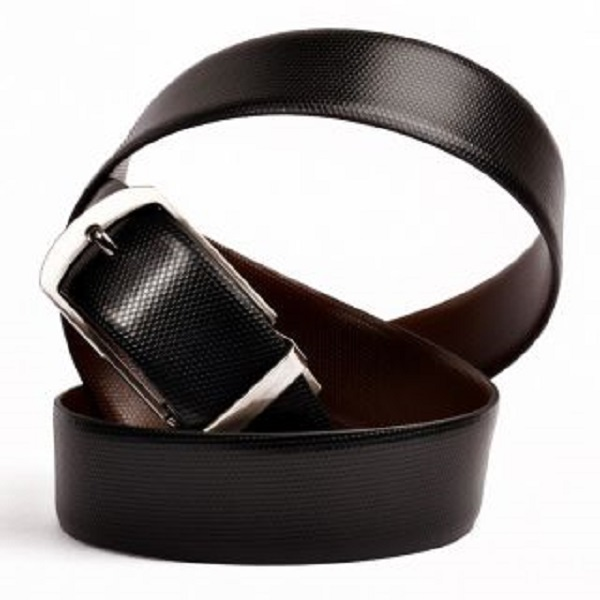Zakina Beige Black Mens Leatherite Belts