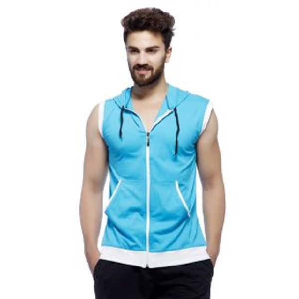 Demokrazy Mens Turquoise Round Neck T Shirt