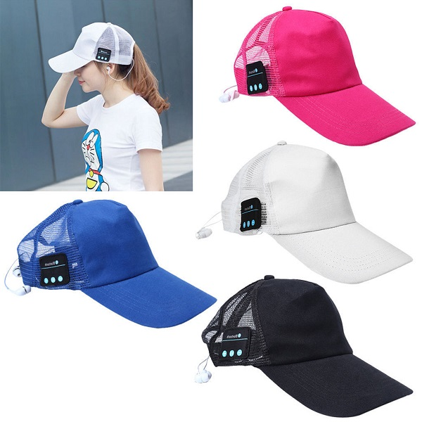 Wireless Bluetooth Baseball Cap Music Sun Hat Hands free Phone Call Back