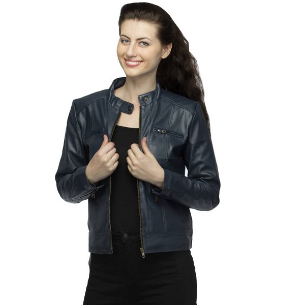 Lambency Full Sleeve Solid Womens Biker Jacket