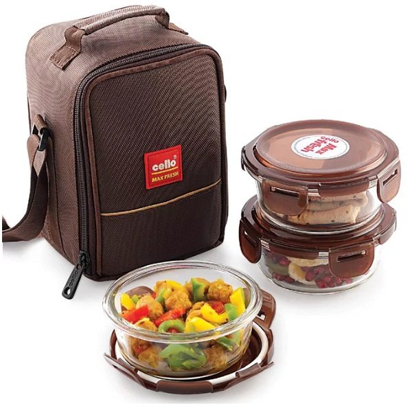 Cello Glassy Containers Lunch Box Set Of 4