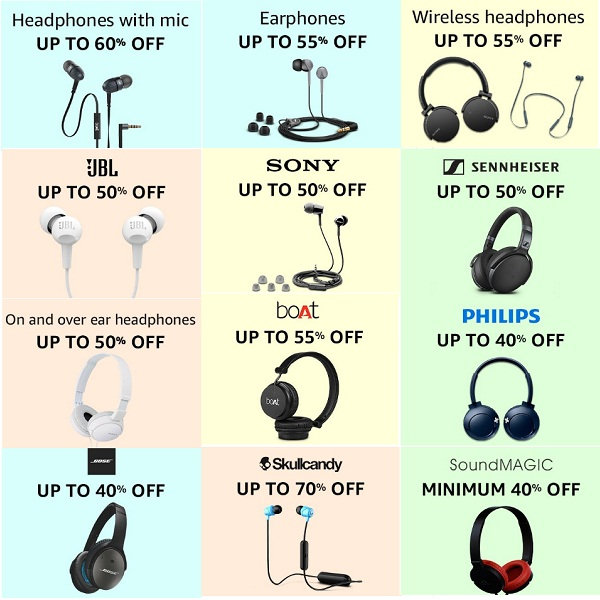 Best Deals on Headphones And Earphones