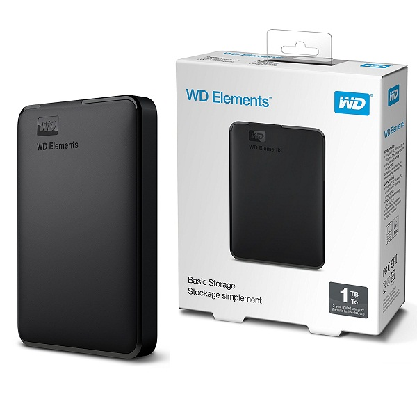 WD Elements 1TB Portable External Hard Drive