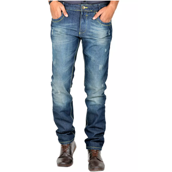 Indigen Cotton Mens Slim Fit Jeans
