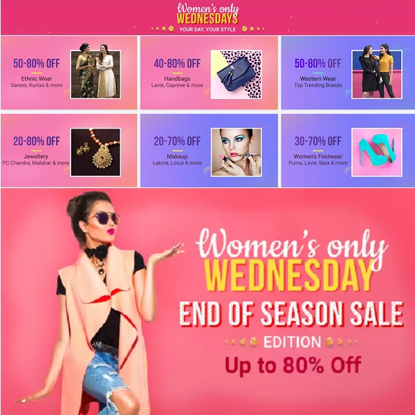 Wednesday Sale For Womens