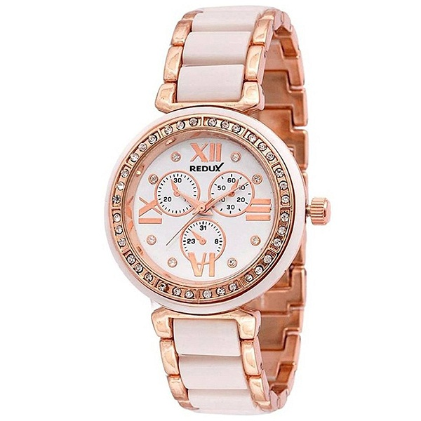 Redux Stylish Analogue off White Dial Girls Watch