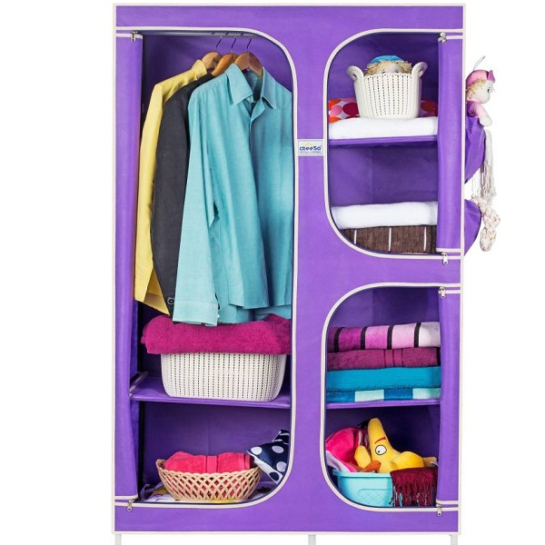 CbeeSo CB160LV Carbon Steel Collapsible Wardrobe