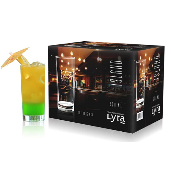 Lyra Island Hiball 230 ML Glasses Set of 6
