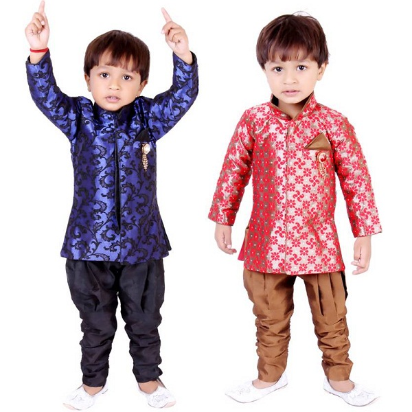 Tiny Toon Boys Sherwani and Churidar Set