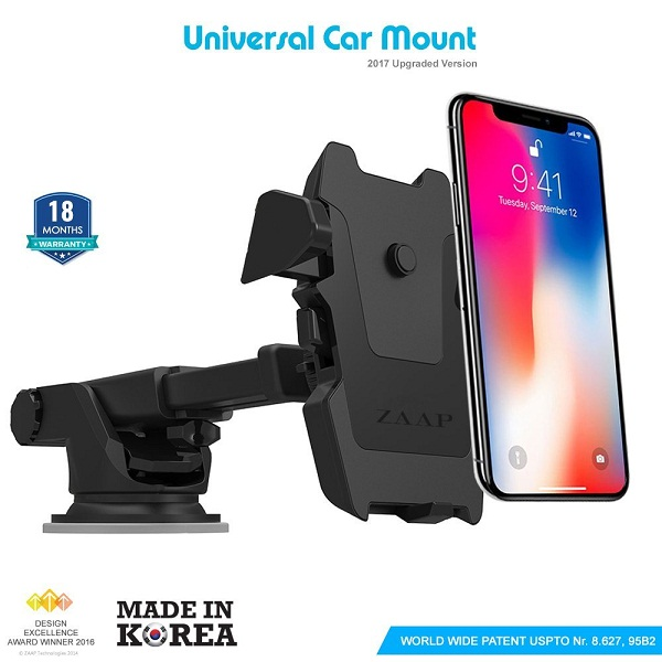 Zaap Quick Touch One Premium 360 Adjustable 3 in 1 Car Mount Holder For All Smartphones