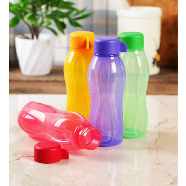 Tupperware Acqua Safe Multicolor Plastic 310 ML Bottle Set of 4