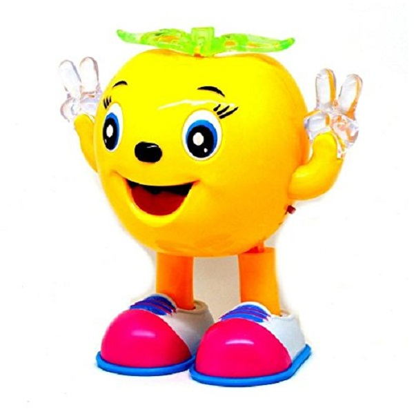 Musical Cartoon Dancing Apple with Colorful Lights Gift Toy for Kids