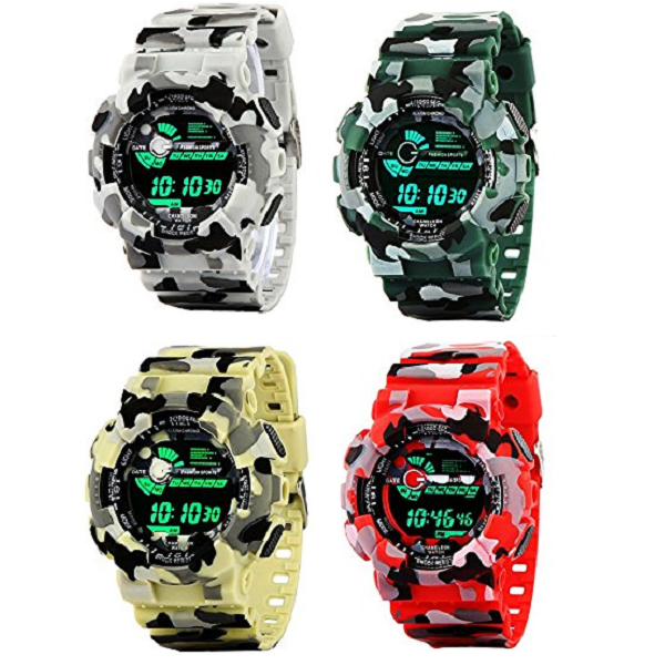 Addic Multicolor Dial Army Strap Digital sports Watch