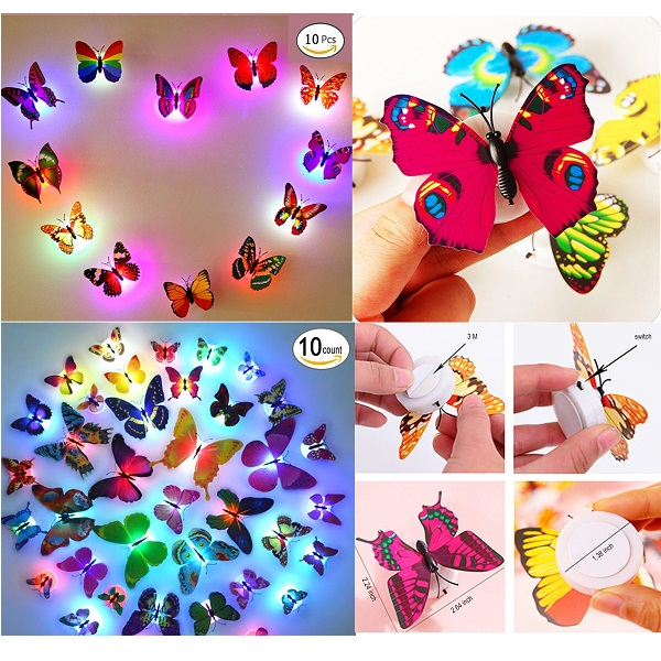 11 PCS Beautiful LED Butterfly