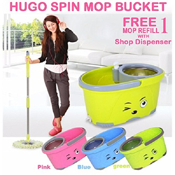 Hugo Mop Bucket Magic Spin Mop With Soap Dispenser