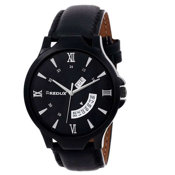 REDUX Analogue Black Dial Mens Watch
