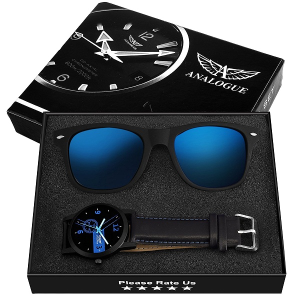 Analogue Sunglasses And Watch Combo