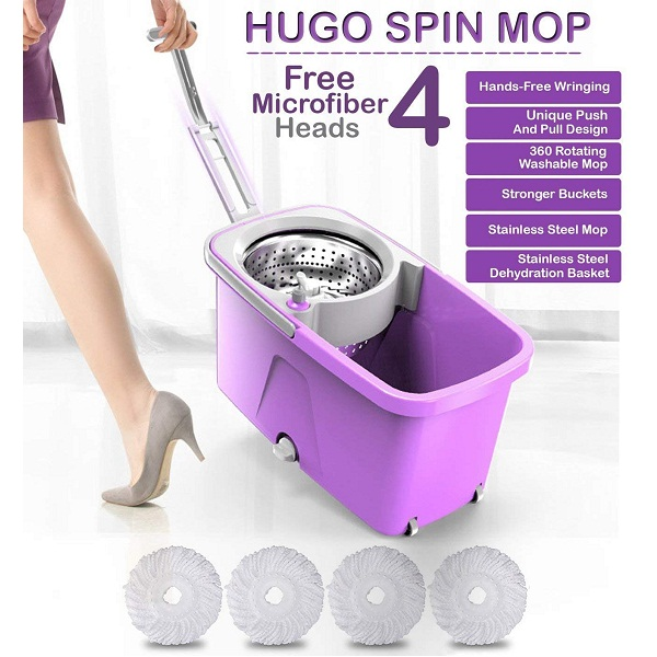 Hugo Mop Bucket Magic Spin Mop