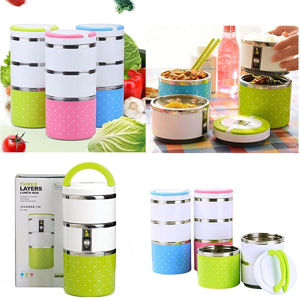 Amazing Mall Premium Three Layer Lunch Box Set