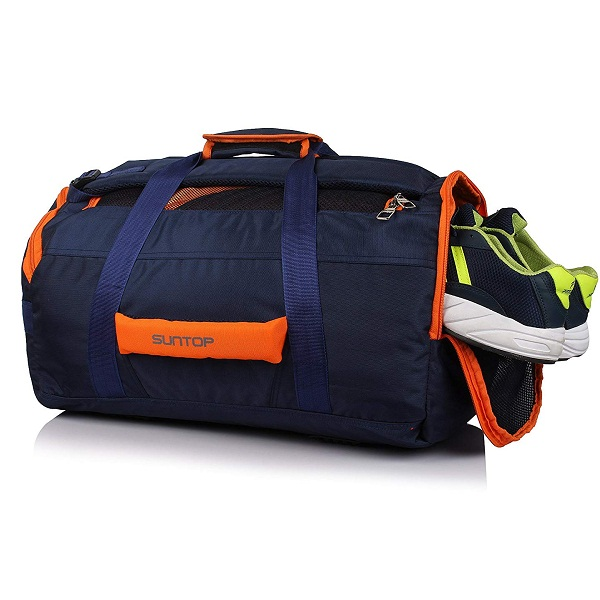 Suntop Polyester 45 Ltr Blue Orange Sports Duffels