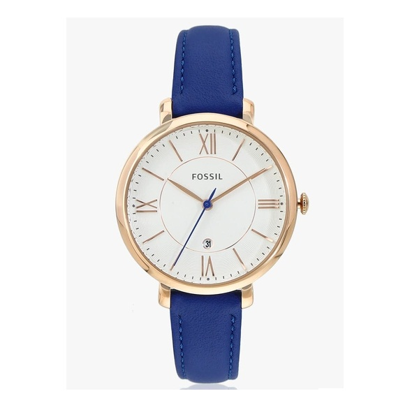 Fossil Blue Leather Analogue Watch
