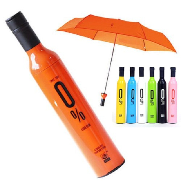 A2zonlineking Nylon Wine bottle design Umbrella