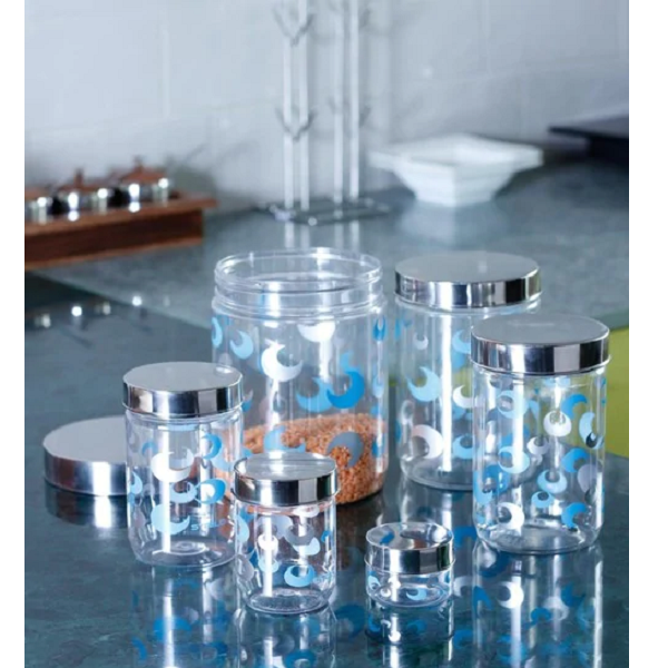 Steelo Transparent Storage Container Set of 34
