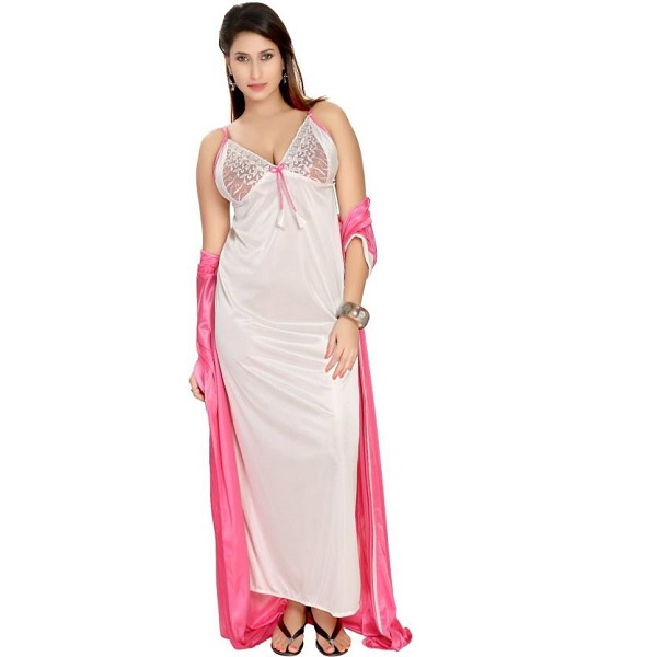 Fashigo Women Nighty with Robe