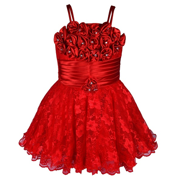 Wish Karo Baby Girls Net Frock Dress