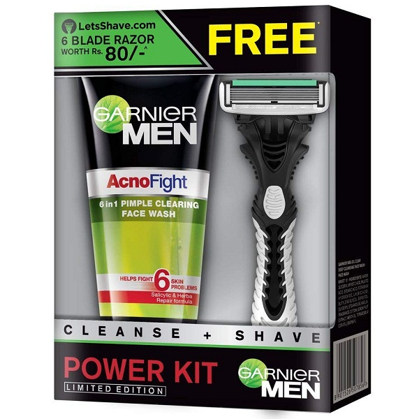 Garnier Men Acno Fight Face Wash With Freebie