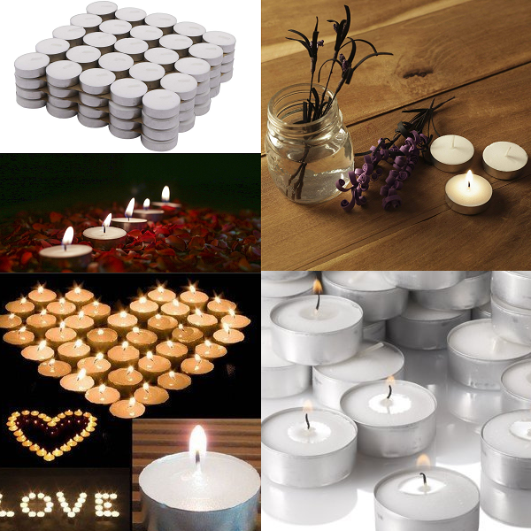 Solimo Wax Tealight Candles Set of 100