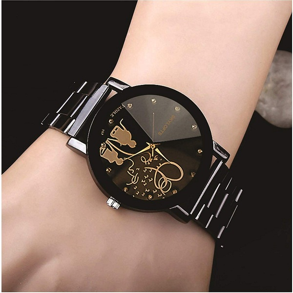 Skyloft Analog Black Dial Womens Watch