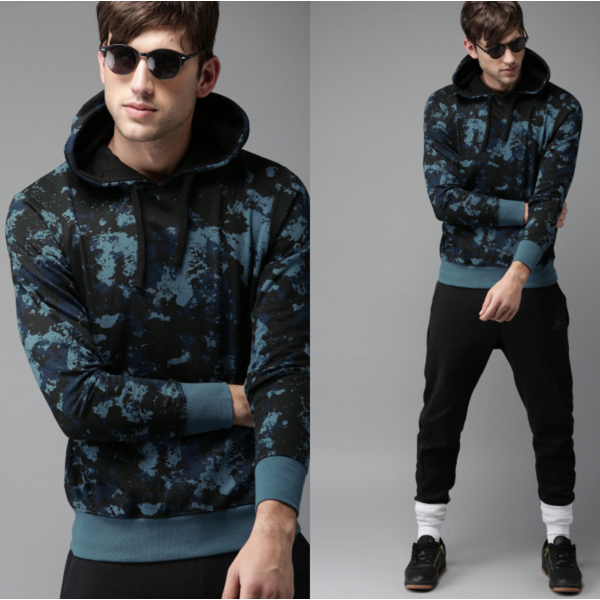 Moda Rapido Printed Hooded Sweatshirt