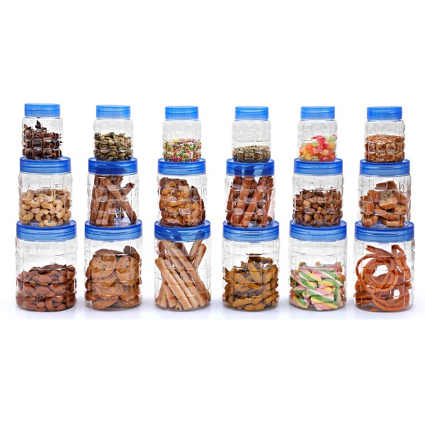 Cello Checkers Plastic Container Set 18 Pieces