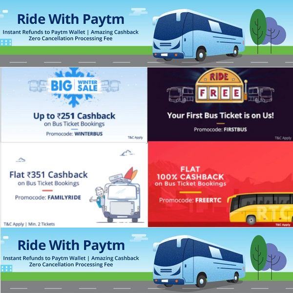 Online Bus Tickets Booking With Cashback