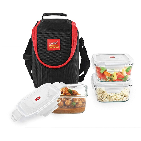Cello Seal O Fresh Glass Lunch Box
